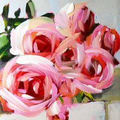 """Happy Valentine's Day! (beautiful painting by #angelamoulton)"""