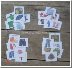 Free Download for a season's match sorting game that your young reader can play. Separate what the main character would wear when he experienced the brown, waited for rain and then enjoyed spring. Found on the blog: preschoolalphabet #andthenit'sspring #literacygames #practickle.com