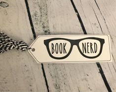 Book Nerd bookmark, bookmark, bookmarks, bookmark, book mark, bookmark, cute bookmark, funny bookmark
