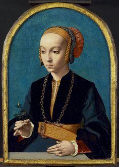 Bartholomäus Bruyn the Elder, Portrait of Elisabeth Bellinghausen, 1538-39
