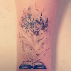 tattoo right disney sleeve. better more real drawing of the other castle i sav… tattoo right disney sleeve. better more real drawing of the other castle i saved. Tattoo Buch, Hp Tattoo, Tattoo Trend, Tatoo Art, Get A Tattoo, Body Art Tattoos, New Tattoos, Sleeve Tattoos, Tatoos