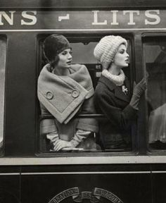 Vintage Fashion shot on a train