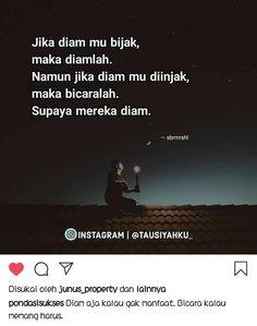Kata Bijak Diam : bijak, Mutiara, Ideas, Quotes,, Quotes, Indonesia,, Reminder