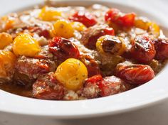 Blistered Tomatoes in the Snow Recipe : Daphne Brogdon : Food Network - FoodNetwork.com