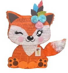 Ready to Ship Fox Pinata Birthday Pinata, Wild One Birthday Party, 1st Birthday Girls, Birthday Party Themes, First Birthday Parties, Birthday Ideas, Fox Party, Dyi, Valentine Box
