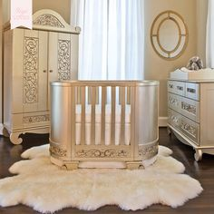 Bratt Decor Chelsea Darling Convertible Cradle To Crib / Cot In Antique  Silver   Inspired By The Glamour Of This Collection Of Furniture Exudes  Elegance And ...