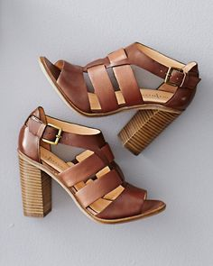 An haute huarache is perfect for those days (and those outfits) that aren't quite ready to face the cooler seasons. We love the way this oiled leather sandal spans the transition; it's covered up enough to work with dresses (with or without tights) and strappy enough to dress up jeans.