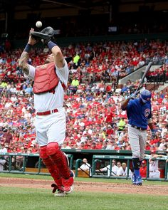 8b1b1d89b Yadier Molina Photos - Yadier Molina  4 of the St. Louis Cardinals catches a