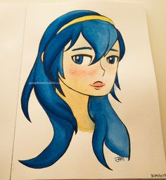[OC] I painted Lucina! Happy birthday Lucina!