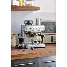 Breville® Barista Espresso Machine in Espresso Makers | Crate and Barrel