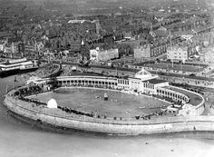 The pool was opened in the summer of 1924 but was demolished in 1984 to make way for The Sandcastle which opened in 1986 Winter Garden Blackpool, Blackpool Promenade, Blackpool England, Make Way, Driveway Gate, Resorts, Seaside, Paris Skyline, Swimming Pools