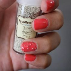 """An affordable alternative to achieving that trendy """"caviar manicure"""" look!"""