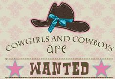 Cowgirls wanted