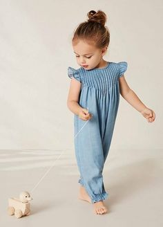 High quality toddler girl jumpsuits, you can also get substantial slection of baby girl jumpsuits. Baby Outfits, Baby Girl Dresses, Baby Girls, Baby Dress, Kids Outfits, Toddler Girl, Baby Girl Fashion, Kids Fashion, Baby Girl Jumpsuit