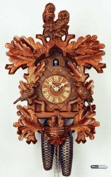 Amazon.com: German Cuckoo Clock 8-day-movement Carved-Style 19 inch - Authentic black forest cuckoo clock by Rombach & Haas: Home & Kitchen