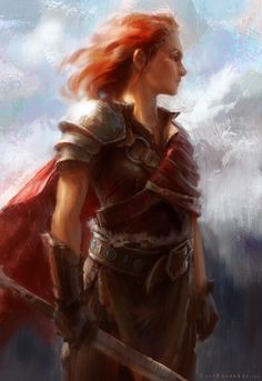 Red Haired Female Mercenary