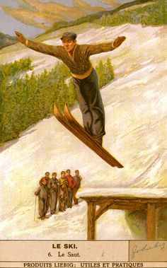 Vintage Skiing Poster - Le Saut from VintageWinter