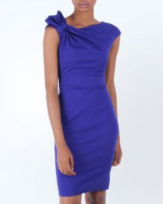 What's the occasion? This should be perfect https://www.jumia.com.ng/goddiva-gathered-shoulder-midi-dress-royal-blue-223274.html