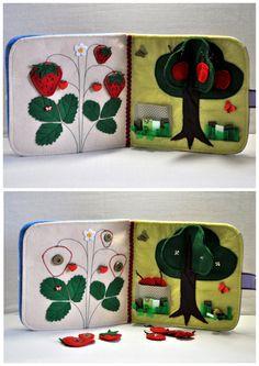 Quiet Book/Children's Quiet Book/ Busy Book por WeriBeauties