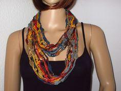 Effektgarn, Schmuck Design, Crochet Necklace, Accessories, Jewelry, Style, Fashion, Unique Bags, Hot Pink Fashion