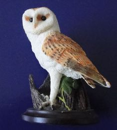 CHOUETTE EFFRAIE STATUE DECORATION BARN OWL COLLECTOR ANDY PEARCE 2002 Statues, The Collector, Owl, Barn, Decoration, Barn Owls, Animaux, Dekoration, Converted Barn