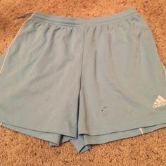 Adidas Soccer shorts Small stain on shorts, tag cut out Shorts