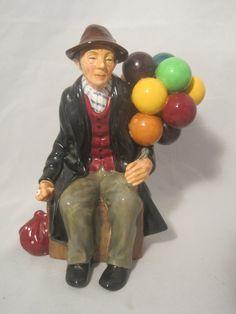 The Balloon Man  Royal Doulton Figurine. HN 1954 by MyRedFlamingo, $99.99