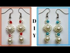 Beading earrings tutorial for beginners. 10 minutes DIY Earrings - YouTube