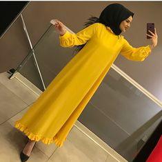 Yenilerden harika bir ürün daha stoklarda☑️ 125₺ Arab Fashion, Muslim Fashion, Modest Fashion, African Fashion, Fashion Dresses, Abaya Designs, Hijab Stile, Casual Hijab Outfit, Mode Hijab
