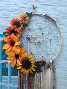 Your place to buy and sell all things handmade Excited to share this item from my shop: Custom Sunflower Dreamcatcher / Halloween Decor / Wreath / Decor for Laura Scariest Halloween Decorations Ever, Cheap Halloween Decorations, Halloween Home Decor, Sunflower Home Decor, Sunflower Room, Diy Dorm Decor, Dorm Decorations, Bedroom Decor, Bedroom Wall