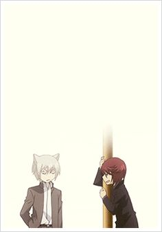 Tomoe and Kurama ~ their whole relationship summed up in a gif