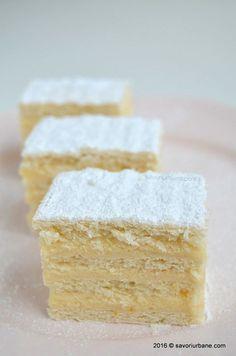 Prajitura Alba ca zapada reteta clasica | Savori Urbane Romanian Food, Romanian Recipes, Sauces, Pain, Cornbread, Vanilla Cake, Feta, Sweets, Cheese