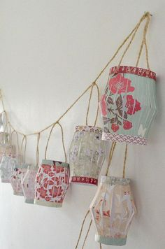 Diy dorm room crafts : DIY Paper Lantern Garland