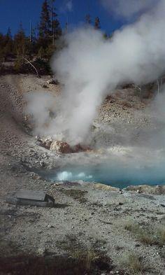 Hot spring at Yellowstone.
