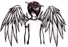 Emo clipart fallen angel - pin to your gallery. Explore what was found for the emo clipart fallen angel Creepy Drawings, Dark Art Drawings, Pencil Art Drawings, Art Drawings Sketches, Cute Drawings, Fall Drawings, Angel Drawing Easy, Emo Kunst, Arte Emo