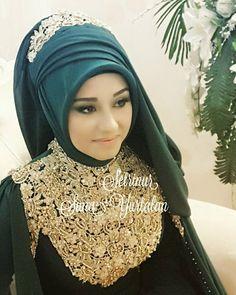 Hijab Outfit, Hijab Niqab, Hijab Dress, Mode Hijab, Hijabs, Wedding Hijab Styles, Bridal Hijab, Muslim Women Fashion, Muslim Brides
