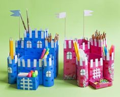 Make a castle out of toilet rolls and boxes