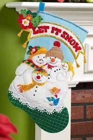 Resultado de imagen para stocking felt elf bucilla santa letter