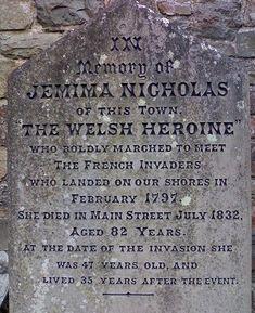 Jemima Fawr tombstone WKPD
