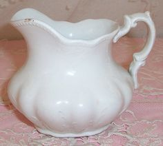 small ANTIQUE White Ironstone Whiteware English by vintageflowers, $28.00