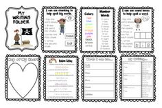 Interactive Writing Folder that will go with work on writing.