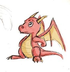 Baby Dragon Sketch by Sacco195.deviantart.com on @deviantART