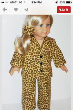 Cute American girl Cheata print pjs!