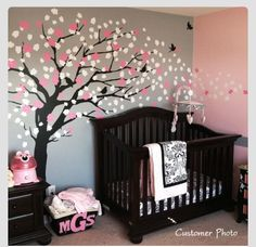 Beautiful baby room idea......... Taryn Fish.... Need to get uncle tom to do this for Ryleigh's wall in her new room!!!!!!!!!!!!!!