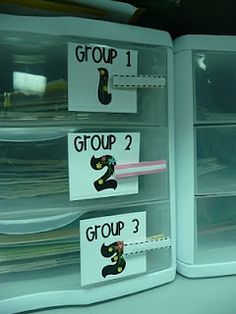 Small group organization for leveled readers & differentiation