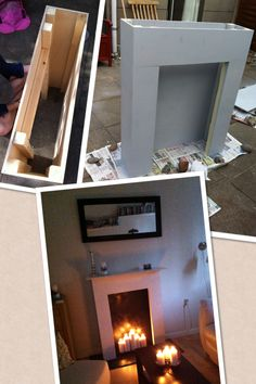 DIY faux fireplace. Sadly it's only a picture...