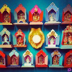 "MILAGROS MUNDO ""Funky Fairtrade & Hippy Chic"": ॐ HAVELI TEMPLE ART ॐ Mini temple art for Peace, Love & Hope for your #bohemian sanctuary"