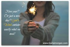 God's Word gives direction for the new year!
