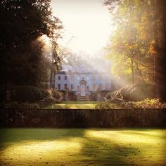 Sunrise at The Swan House, via @Beverly Murray History Center