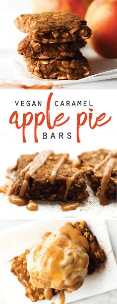 Caramel Apple Pie Bars (à la mode!)   Vegan & Gluten-Free